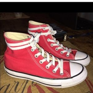 Red Converse Perfect Condition worn 2 times max